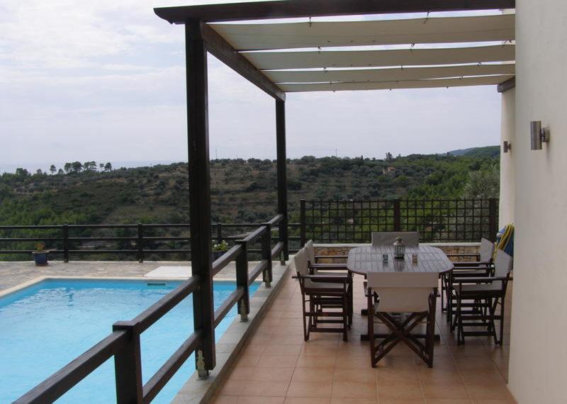terrace and pergola