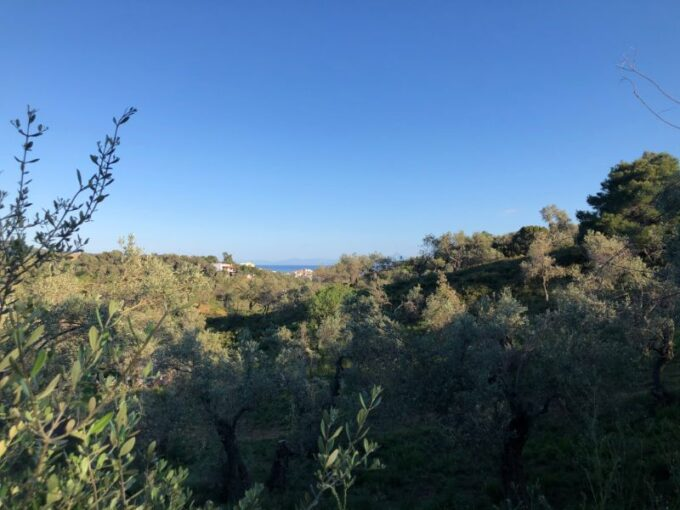 Plot with distant sea views close to town